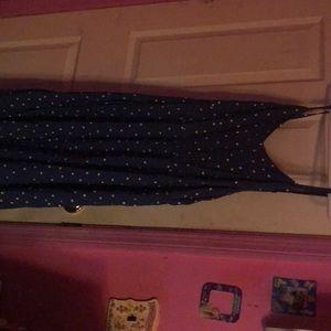 Blue polkadot dress size xl